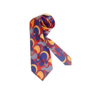 VTG 60s 70s Psychedelic WIDE Neck Tie Bold Color